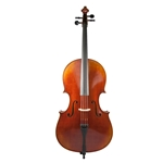 1/8 Rosalia Cello Outfit - Thick Padded Case - Composite Bow - Helicore Strings