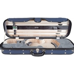 Core CC535 Two-Tone Oblong Woodshell Violin Case w/ Digital Hygrometer