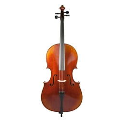 1/4 Rosalia Cello Outfit - Thick Padded Case - Composite Bow - Helicore Strings